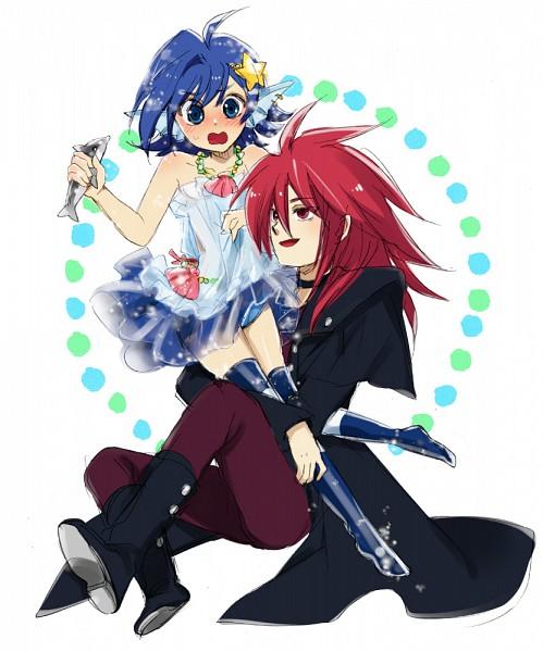 Tags: Anime, Pixiv Id 352054, Cardfight!! Vanguard, Suzugamori Ren, Sendou Aichi, Top Idol Aqua (Cosplay), Ride (Cardfight!!), Pixiv, Fanart