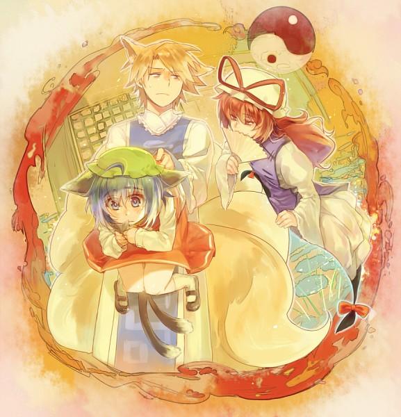 Tags: Anime, Sen Tatohoka, Cardfight!! Vanguard, Suzugamori Ren, Miwa Taishi, Sendou Aichi, Yakumo Yukari (Cosplay), Chen (Cosplay), Touhou (Cosplay), Yakumo Ran (Cosplay), Pixiv, Fanart