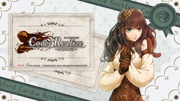 Tags: Anime, miko (Artist), IDEA FACTORY, Code: Realize ~Sousei no Himegimi~, Cardia (Code: Realize), Facebook Cover, Official Wallpaper, Wallpaper, HD Wallpaper, Official Art