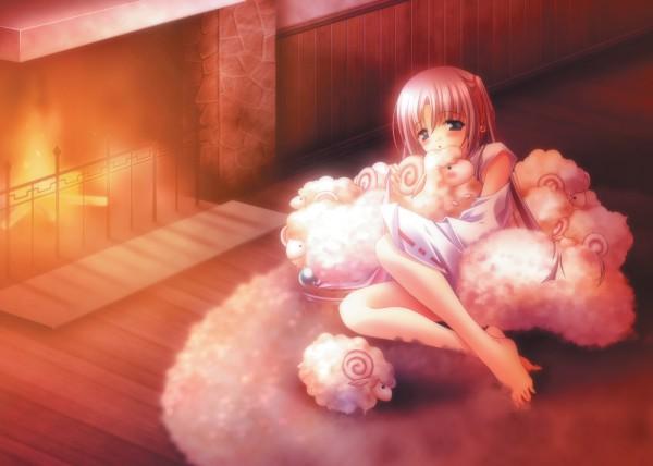 Tags: Anime, CARNELIAN, Yuki Usagi, Moldavite, Caren Mayfield, Rug, Fireplace
