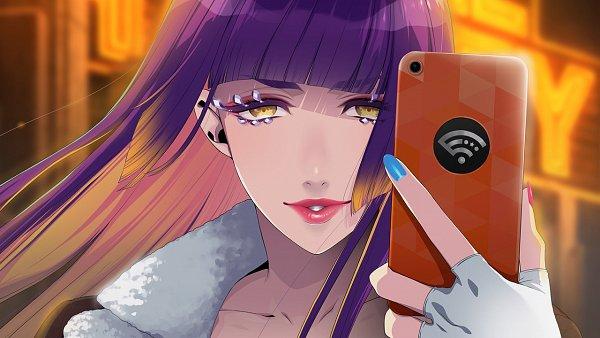 Tags: Anime, Sumeragi Kohaku, BUSTAFELLOWS, Carmen (BUSTAFELLOWS), iPhone, Official Art, CG Art