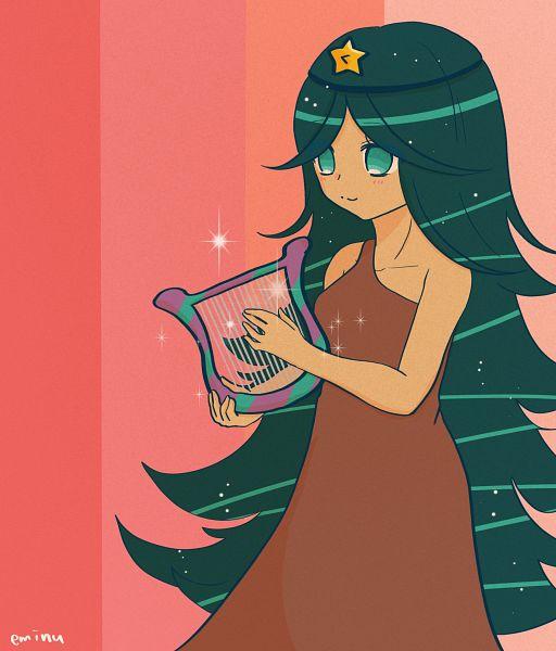 Tags: Anime, Eminu, Cookie Run, Carol Cookie, Lyre, Brown Dress, Fanart, Twitter