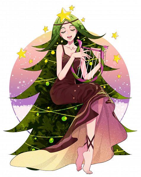 Tags: Anime, Toomaatoo, Cookie Run, Carol Cookie, Brown Dress, Lyre, Fanart, Lofter