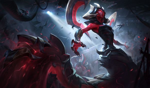 Tags: Anime, Riot Games, League of Legends, Cassiopeia, Lamia, Official Art
