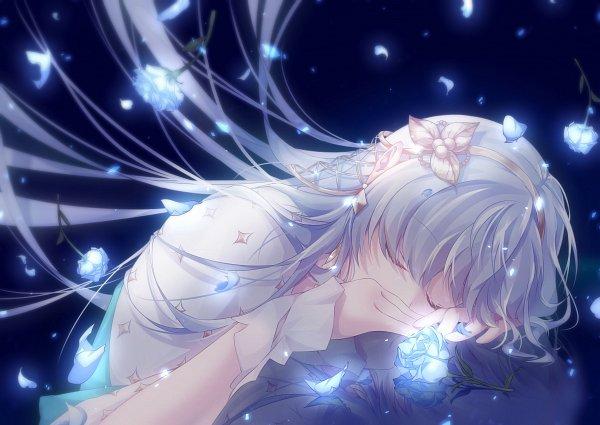 Tags: Anime, Pixiv Id 6738156, Fate/Grand Order, Caster (Anastasia Nikolaevna Romanova), Dark Backround, Fanart From Pixiv, Pixiv, Fanart