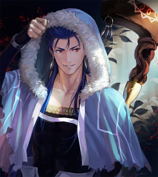 Tags: Anime, Suda Ayaka, Fate/Grand Order, Caster (Cú Chulainn), Lancer (Fate/stay night), PNG Conversion, Pixiv, Fanart