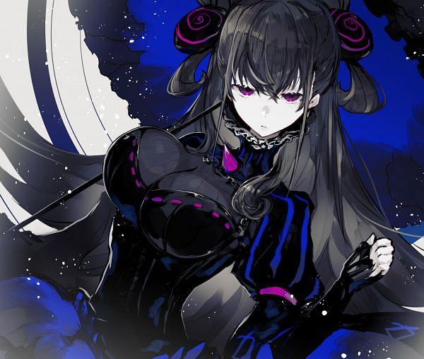 Tags: Anime, Kusakanmuri, Fate/Grand Order, Caster (Murasaki Shikibu), Gothic Outfit, Pixiv, Fanart, Fanart From Pixiv