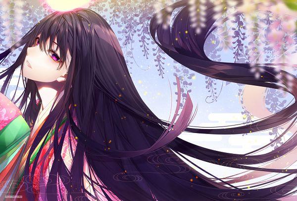 Tags: Anime, HisuriRii, Fate/Grand Order, Caster (Murasaki Shikibu), Wisteria, Junihitoe, Pixiv, Fanart, Fanart From Pixiv