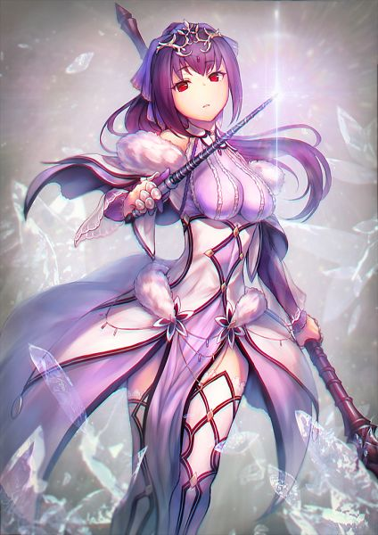 Tags: Anime, Pixiv Id 750980, Fate/Grand Order, Lancer (Fate/Grand Order), Caster (Scathach Skadi), Pixiv, Fanart, Fanart From Pixiv