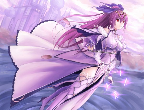 Tags: Anime, Pixiv Id 29874741, Fate/Grand Order, Caster (Scathach Skadi), Lancer (Fate/Grand Order), Fanart From Pixiv, Pixiv, Fanart