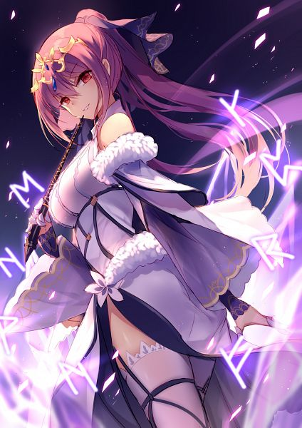 Tags: Anime, Bisonbison, Fate/Grand Order, Lancer (Fate/Grand Order), Caster (Scathach Skadi), Runes, Pixiv, Fanart, Fanart From Pixiv