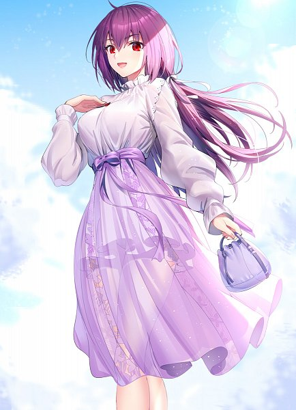 Tags: Anime, Ririko, Fate/Grand Order, Caster (Scathach Skadi), Lancer (Fate/Grand Order), Heroic Spirit Travel Journal, Fanart From Pixiv, Pixiv, Fanart