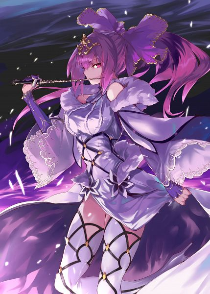 Tags: Anime, OHLAND, Fate/Grand Order, Caster (Scathach Skadi), Lancer (Fate/Grand Order), Twitter, Fanart