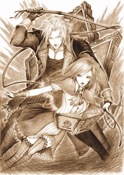 Tags: Anime, Daburoku, Castlevania: Portrait of Ruin, Charlotte Aulin, Jonathan Morris, Pixiv