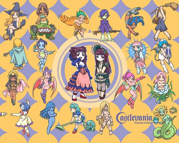 Tags: Anime, Castlevania: Portrait of Ruin, Loretta Lecarde, Stella Lecarde, Succubus (Castlevania), Official Art