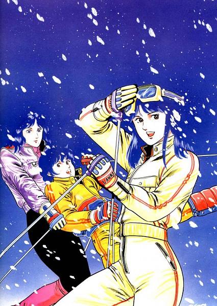 Tags: Anime, Hojo Tsukasa, Cat's Eye, Kisugi Rui, Kisugi Hitomi, Kisugi Ai, Skiing