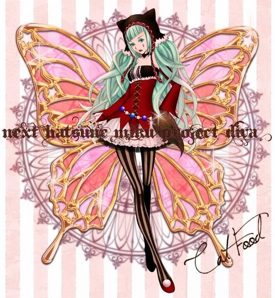 Tags: Anime, Pixiv Id 586197, Project DIVA F, VOCALOID, Hatsune Miku, Cat Food, Project DIVA Pierreta, Pixiv, Fanart From Pixiv, Catfood (VOCALOID), Fanart