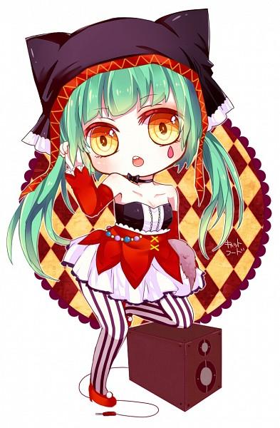 Tags: Anime, Pixiv Id 1411473, Project DIVA F, VOCALOID, Hatsune Miku, Project DIVA Pierreta, Catfood (VOCALOID), Mobile Wallpaper