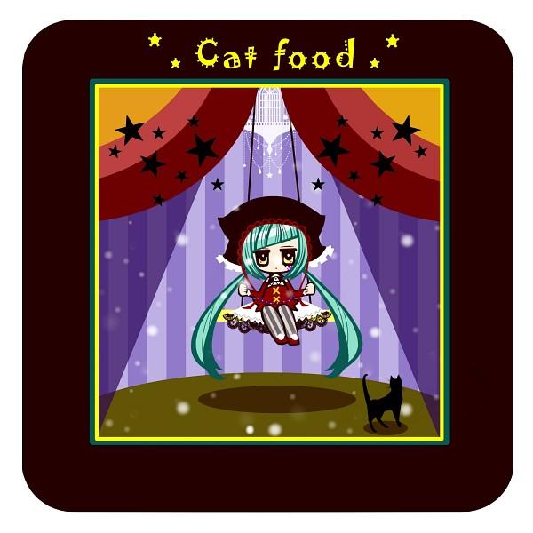 Tags: Anime, Pixiv Id 841677, Project DIVA F, VOCALOID, Hatsune Miku, Pentagram, Project DIVA Pierreta, Pixiv, Catfood (VOCALOID)