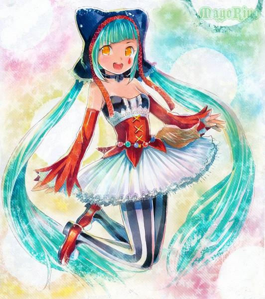 Tags: Anime, MayoRiyo, Project DIVA F, VOCALOID, Hatsune Miku, Project DIVA Pierreta, Catfood (VOCALOID)