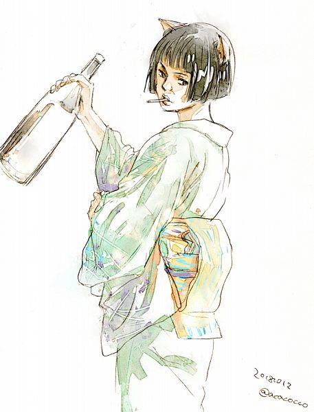 Tags: Anime, Acaco, Gintama, Catherine (Gin Tama), Pixiv, Fanart From Pixiv, Fanart