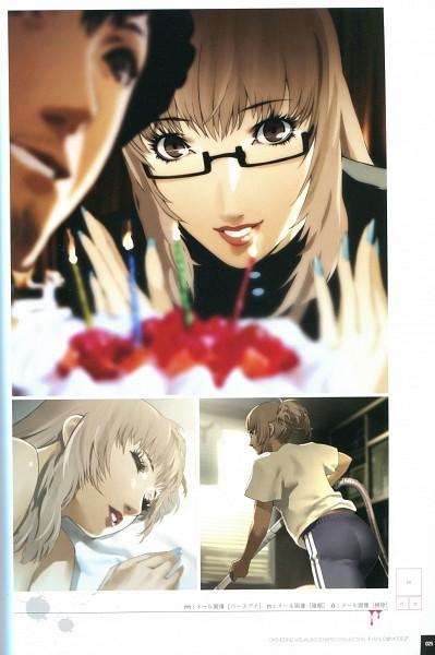 Tags: Anime, Soejima Shigenori, Atlus, Catherine, Katherine McBride, Vincent Brooks, Scan, Official Art, Mobile Wallpaper