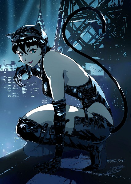 Tags: Anime, Batman, Catwoman, deviantART, Mobile Wallpaper, DC Comics