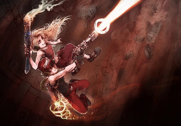 Tags: Anime, Kurkoboltsi, Cave Story, Curly Brace, Quote (Cave Story), deviantART
