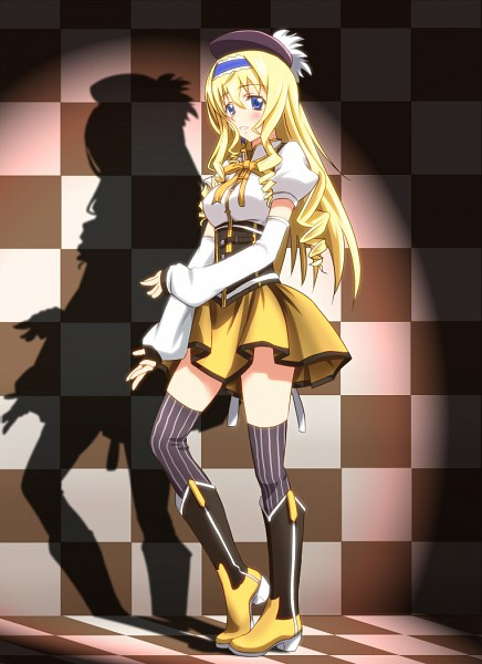 Tags: Anime, Diesel-Turbo, Infinite Stratos, Cecilia Alcott, Tomoe Mami (Cosplay), Mobile Wallpaper