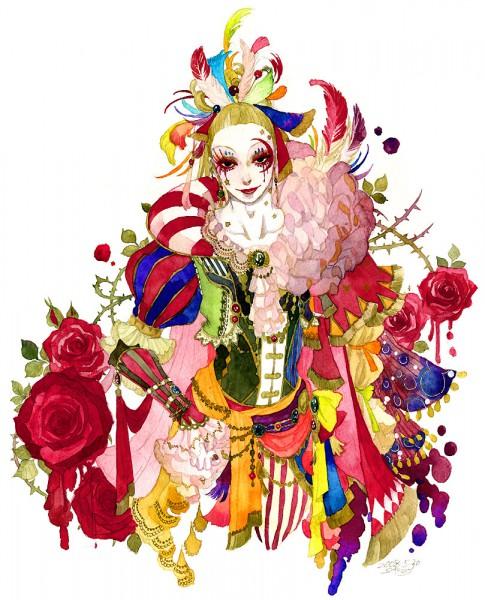 Tags: Anime, Sakizou, SQUARE ENIX, Final Fantasy VI, Cefca Palazzo, Clown, Traditional Media, Pixiv