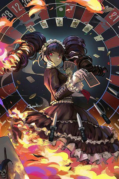 Tags: Anime, Qosic, Danganronpa, Celestia Ludenberg, Roulette, Fichas, Gambling Chips, Dice