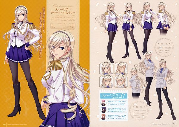 Tags: Anime, Komori Kei, Ricotta, Walkure Romanze, Celia Cumani Aintree, Official Art, Scan