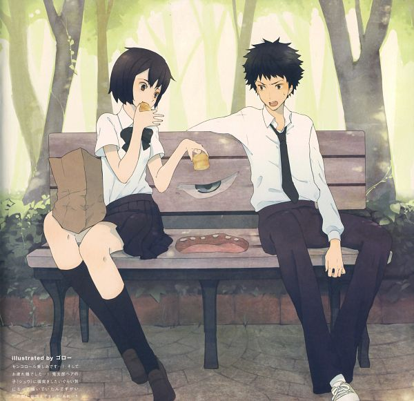 Tags: Anime, Goroo, Cencoroll, Yuki (Cencoroll), Amamiya Tetsu, Cenco, Pudding, Park, Groceries, Scan, Fanart, Pixiv