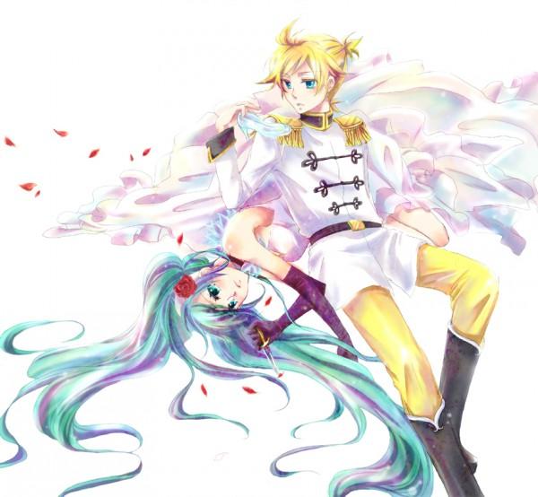 Tags: Anime, Aheim, Cinderella, VOCALOID, Kagamine Len, Hatsune Miku, Cendrillon, LenMiku