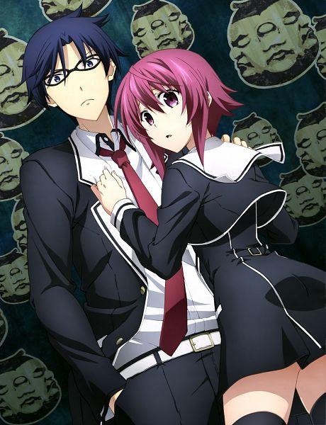 Tags: Anime, Silver Link, ChäoS;Child, Miyashiro Takuru, Onoe Serika, Official Art, Scan