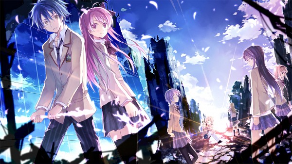 Tags: Anime, Kinoshita Neko, Nitro+, 5pb. (Studio), ChäoS;HEAd, Aoi Sena, Nishijou Takumi, Kishimoto Ayase, Kusunoki Yua, Sakihata Rimi, Nishijou Nanami, Harem, Facebook Cover
