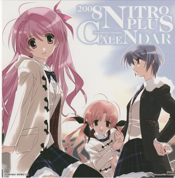 Tags: Anime, Sasaki Mutsumi, Nitro+, 2008 Nitro+ Calendar, ChäoS;HEAd, Orihara Kozue, Kishimoto Ayase, Sakihata Rimi, Calendar 2008, Calendar (Source)