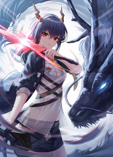 Tags: Anime, Pixiv Id 32480735, Arknights, Ch'en, Fanart From Pixiv, Pixiv, Fanart