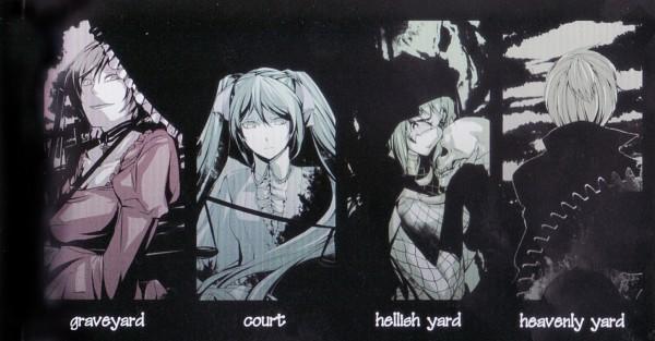 Tags: Anime, Ichika (Pixiv382325), VOCALOID, Hatsune Miku, GUMI, MEIKO (VOCALOID), Kagamine Len, Chaban Capriccio, Facebook Cover, Akuno-p