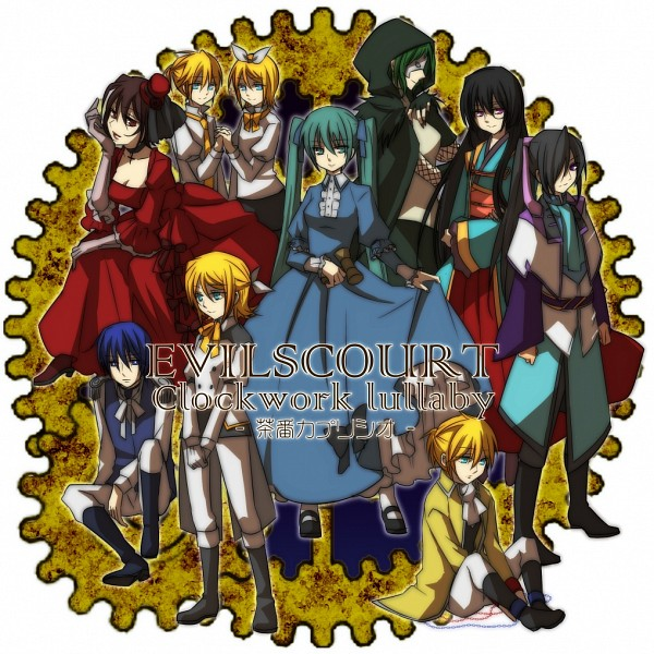 Tags: Anime, Terai Arina (TRIC), VOCALOID, Hatsune Miku, Megurine Luka, Kagamine Len, Kagamine Rin, GUMI, Kamui Gakupo, Chaban Capriccio, Pixiv, Evillious Chronicles, Akuno-p