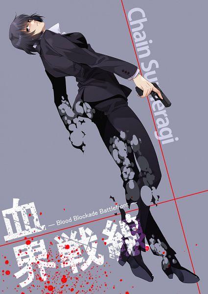 Tags: Anime, Rui Yuda, Kekkai Sensen, Chain Sumeragi, Mobile Wallpaper
