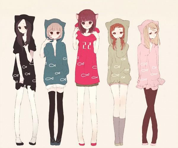 Tags: Anime, Chaka (Pixiv2554283), Same Sweaters, Slender, Gray Legwear, Pixiv, Original