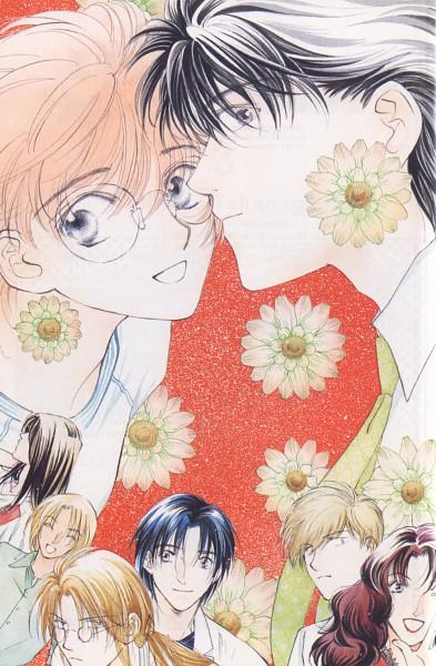 Tags: Anime, Hinako Takanaga, Challengers, Kurokawa Reiko, Kurokawa Mitsugu, Tatsumi Souichi, Tatsumi Tomoe, Morinaga Tetsuhiro, Taichirou Isogai, Manga Color, Scan, Official Art