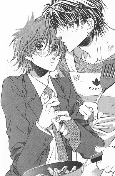 Tags: Anime, Hinako Takanaga, The Tyrant Who Fell in Love, Challengers, Kurokawa Mitsugu, Tatsumi Tomoe, Scan, Official Art, Mobile Wallpaper, Manga Page