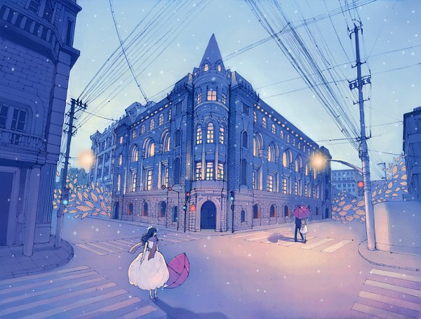 Tags: Anime, Changyezi, Power Lines, Crosswalk, Original, Tumblr