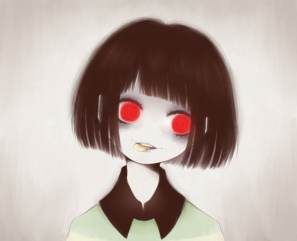 Tags: Anime, ohmyeleanor, Undertale, Chara (Undertale), @_@, Pageboy Haircut, Pixiv, Fanart From Pixiv, Fanart, PNG Conversion