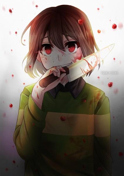 Tags: Anime, TsukiGesshoku, Undertale, Chara (Undertale), deviantART, Fanart, Fanart From DeviantART, Mobile Wallpaper, PNG Conversion
