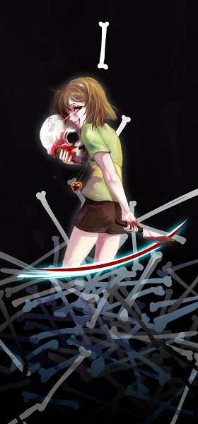 Tags: Anime, Pixiv Id 138275, Undertale, Chara (Undertale), Heart Necklace, Pixiv, Fanart, Fanart From Pixiv, PNG Conversion