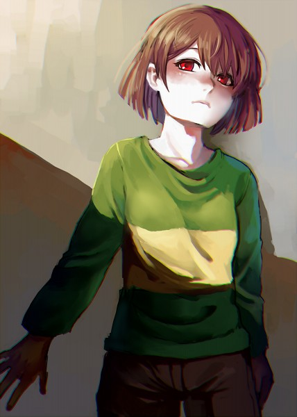 Tags: Anime, hno3syo, Undertale, Chara (Undertale), Tumblr, Mobile Wallpaper, PNG Conversion, Fanart