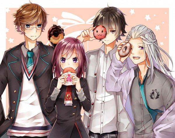 Tags: Anime, Pixiv Id 12795880, Charade Maniacs, Dazai Mei, Gyobu Souta, Ebana Keito, Sena Hiyori, Fanart